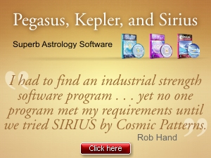 Cosmic Patterns Software, Kepler, Sirius, Pegasus
